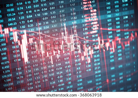 Candle stick graph chart of stock market investment trading, monotone color, Bullish point, Bearish point. trend of graph. - stock photo
