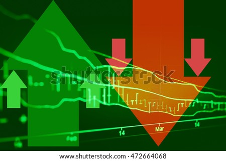 Candle stick graph chart of stock market investment trading, Which including of Bullish point, Bearish point and trend of graph.