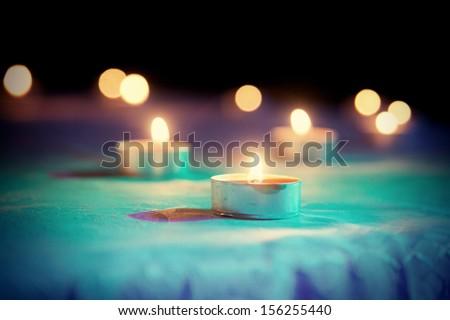 Candle, toned image - stock photo