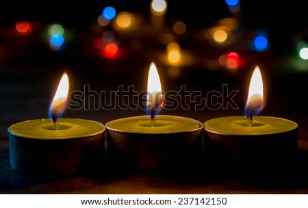 candlelight of hope concept  - stock photo