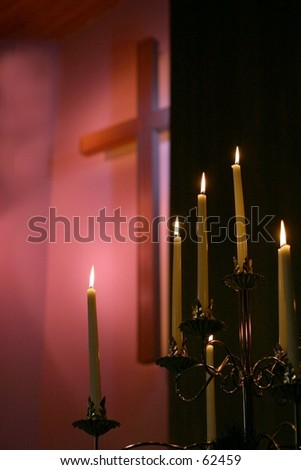 Candles and Cross