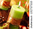 Candles and decoration - stock photo