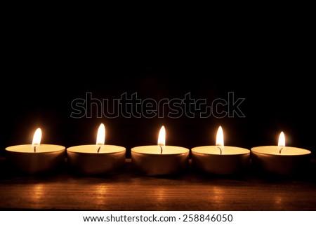 Candles border  - stock photo