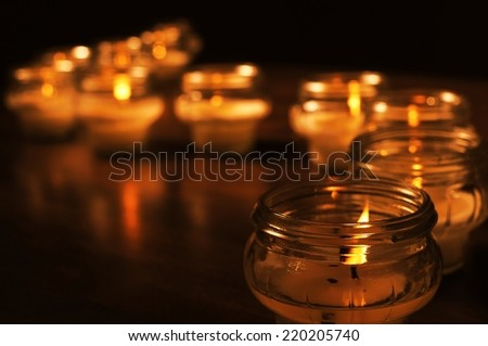 Candles for All Souls Day  - stock photo