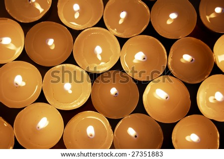 candles group - stock photo
