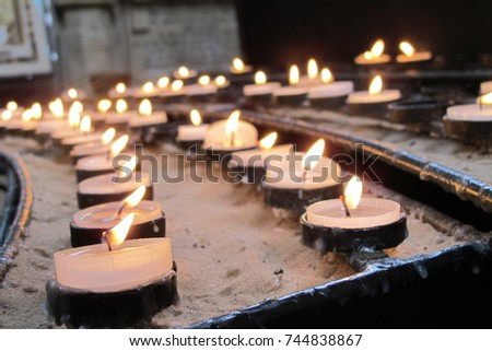 Candles in Old Church