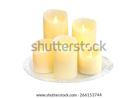 candles isolated on a white background - stock photo