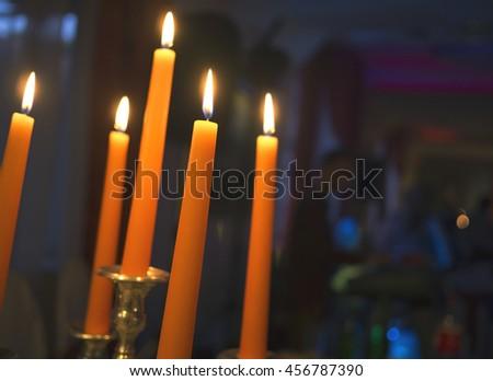 Candles light - stock photo