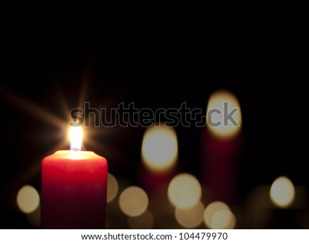 candles light abstract background in night - stock photo