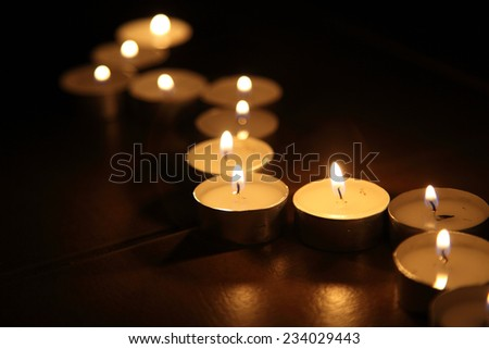 Candles on a dark background o