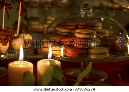 candles on the holiday table