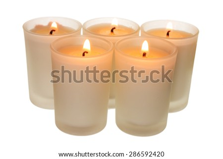 Candles on White Background - stock photo