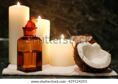 candles spa coconut oil