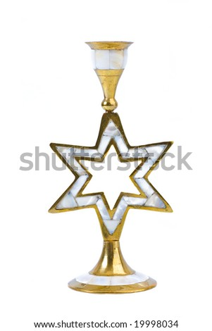 Candlestick in the form of David's six-final Jewish star
