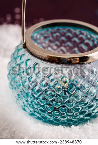 Candlestick in the snow - stock photo