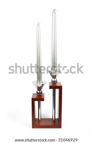 Candlestick isolated on white background - stock photo