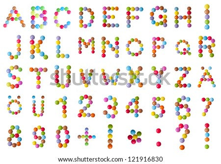 Candy ABC - stock photo