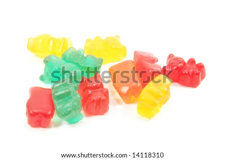 Candy Abstract Isolated on a White Background