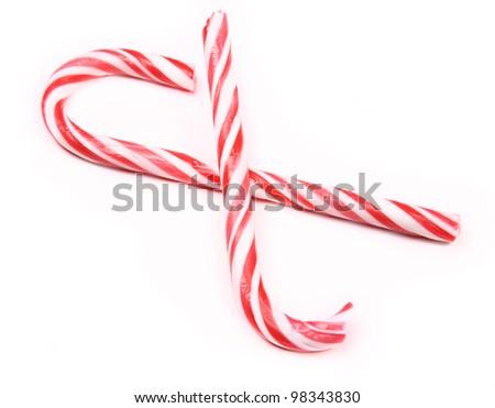 Candy broken canes - stock photo