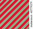 Candy cane patterned paper in red, white and green. - stock photo
