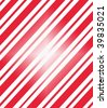 Candy cane patterned paper with a white flash in the middle. - stock photo