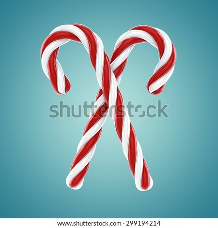 Candy canes , Confectionery - stock photo
