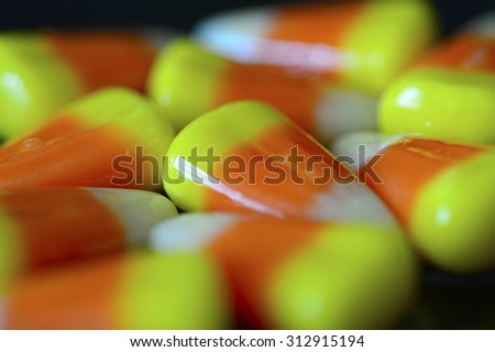 Candy corn for Halloween delicious sweet bright. - stock photo