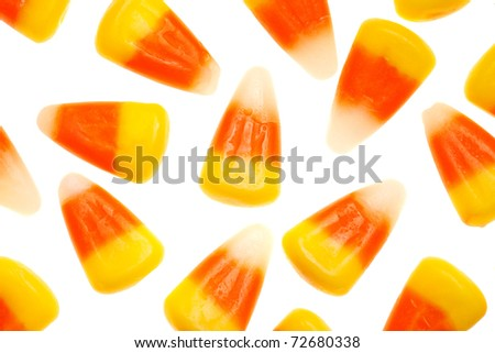 candy corn isolated on a pure white background - stock photo