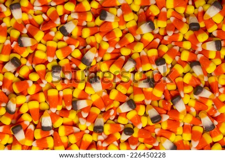 Candy Corn Pile - stock photo