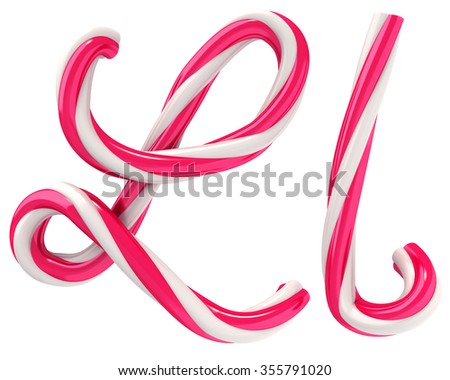 candy font - stock photo