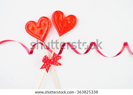 Candy heart on a white background