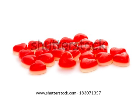 candy hearts isolated on white background