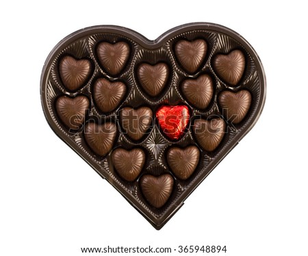 Candy hearts on Valentine's Day - stock photo