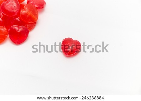 candy hearts red - stock photo