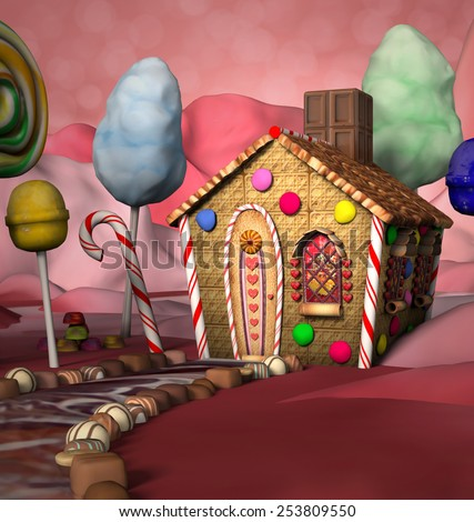 Candy house - stock photo