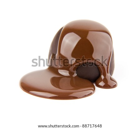 candy in a chocolate on a white background - stock photo