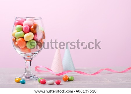 candy jar birthday - stock photo