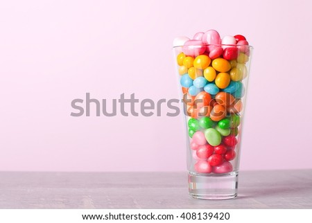 candy jar on the table - stock photo