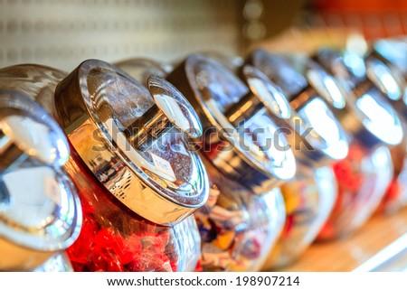Candy jars - stock photo