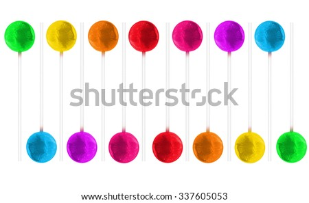 Candy lollipops  colorful seamless background stripe wall paper white background silhouette