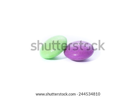 Candy on a white background - stock photo
