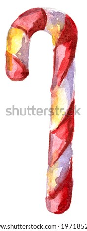 candy red and white on a white background - stock photo