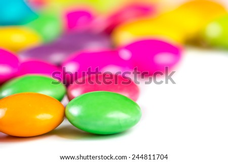 candy sweet color on white background
