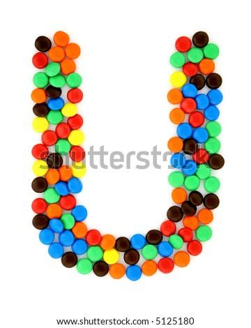 Candy U - stock photo