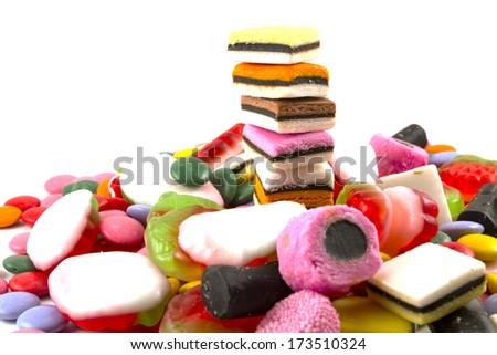 Candy white background - stock photo