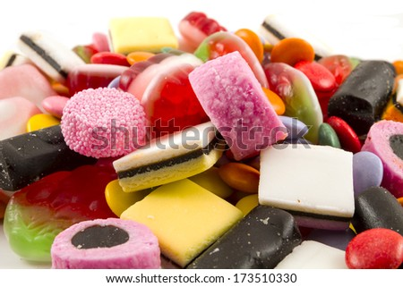 Candy white background