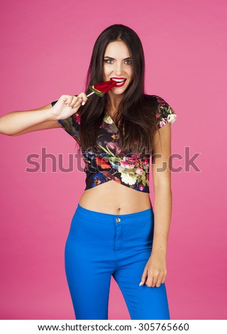 Candy woman  - stock photo