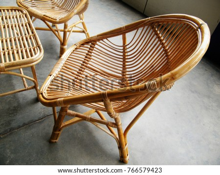 cane chair on whitechair at the balcony rattan rocking chairs
