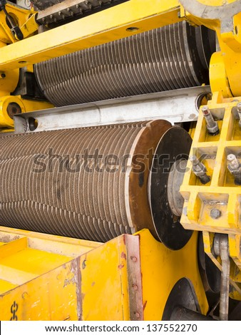 Cane sugar mill machine - stock photo