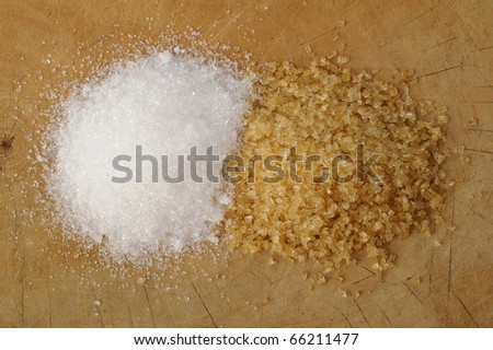 cane sugar on background